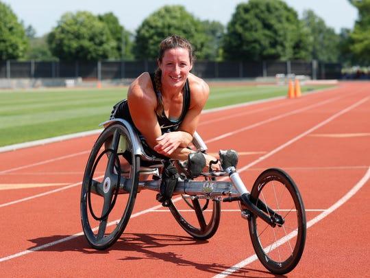 Paralympian Tatyana McFadden trains at the University