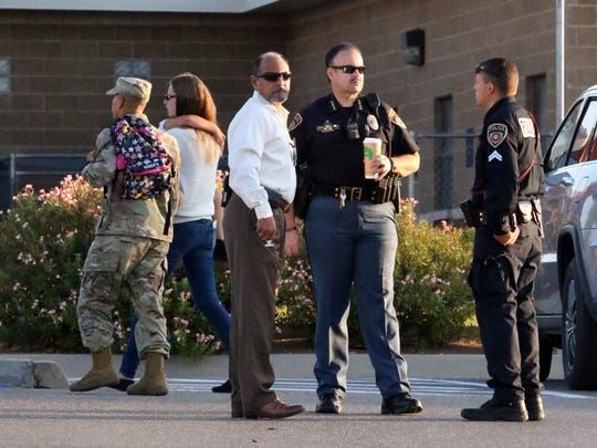 El Paso school district police outside Tippin Elementary