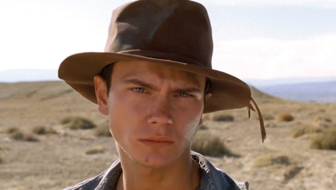River Phoenix while filming his final project, 'Dark Blood,' which was released after his death in 1993.