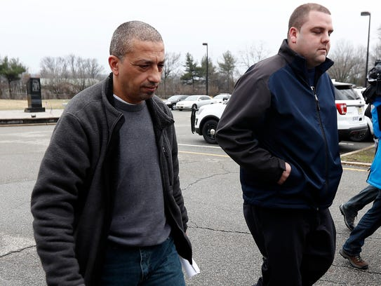 Imad Mowaswes leaving state police barracks in Totowa
