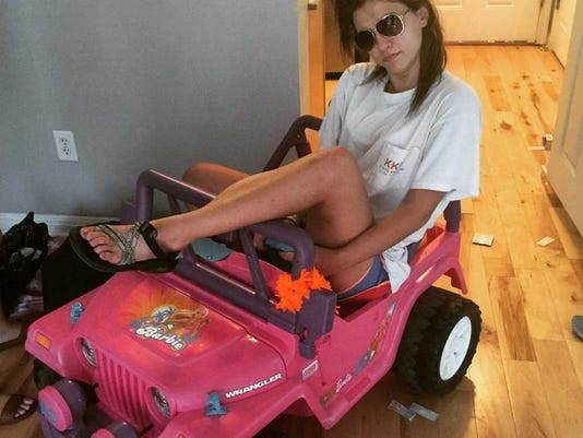 A Texas State student is using a Barbie jeep to get around after getting a DWI