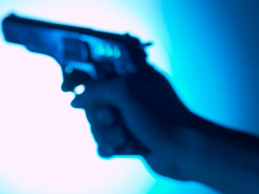 Generic gun pistol handgun hand gun gunshot stock photo