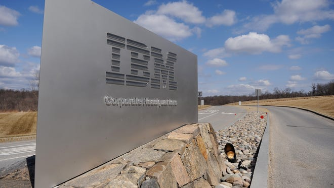 This March 20, 2009 file photo shows a sign at the entrance to IBM Corporate Headquarters in Armonk, New York. I