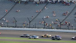 A low turnout of racing fans on hand to watch the Brickyard