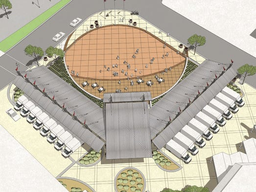Architectural rendering of Battle Creek's Festival Market Square.