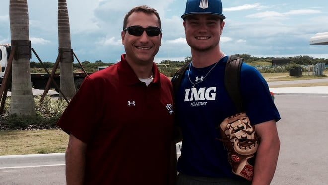 Fletcher's Logan Allen, right, has committed to play college baseball for South Carolina.