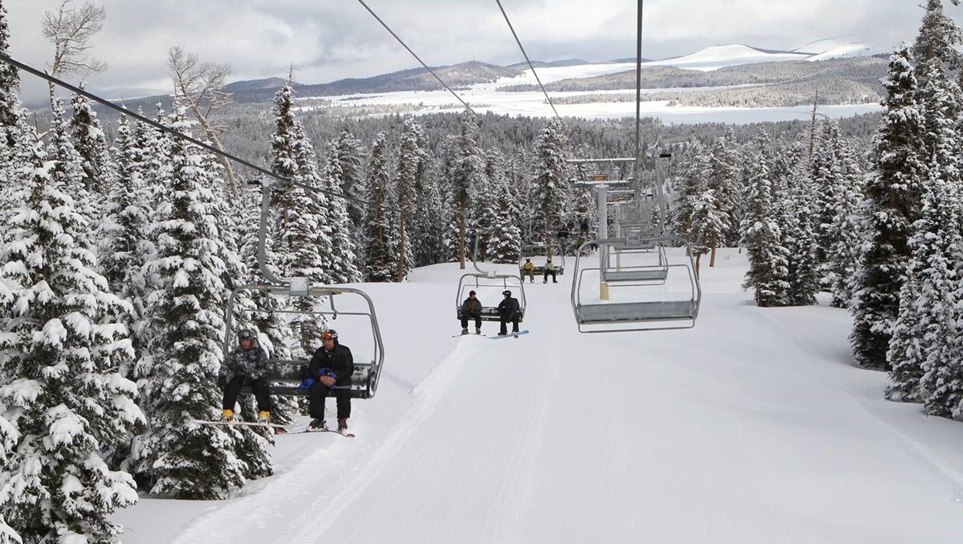 ski in the new year at sunrise park, snowbowl