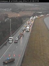 I-275 at the Ohio/Indiana line was closed for more than an hour Saturday morning. It re-opened shortly after 9 a.m.