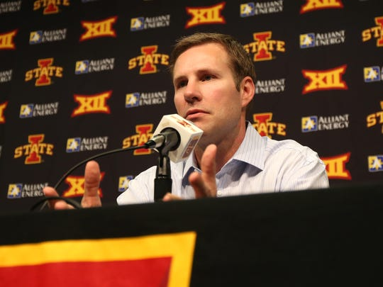 Former Iowa State head coach Fred Hoiberg, seen in a file photo, was fired as the head coach of the Chicago Bulls on Monday, Dec. 3, 2018.