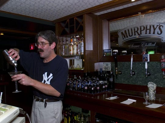 Robb McMahon, co-owner and bartender, at Murphy's Tavern