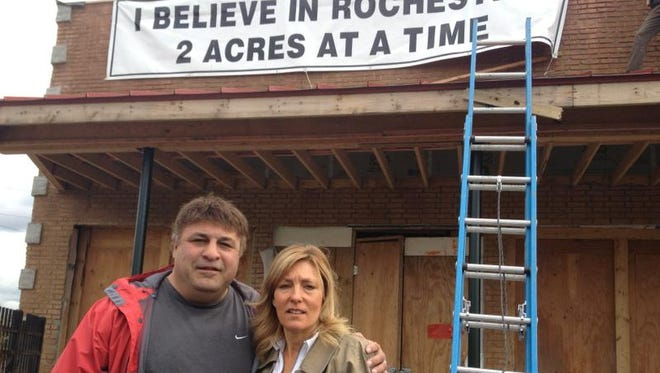 Howard and Laurie Nielsen, owners of Sticky Lips restaurant in Rochester, photographed in 2013, as they were in the middle of a major rehabilitation project covering two acres around the Sticky Lip's  Culver Road and Atlantic Avenue location.