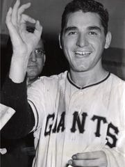 Baseball pitcher Johnny Antonelli of the New York Giants.