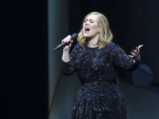 The reign of Adele's '25' continues into 2016, with