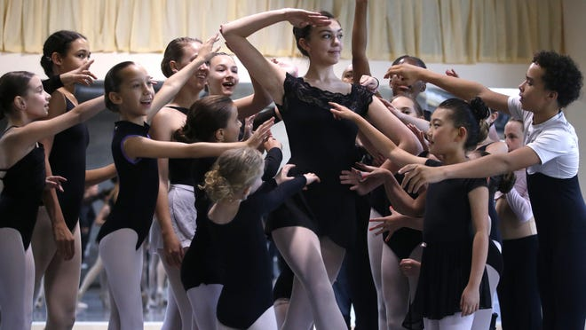 """Children hold rehearsal for their performance of the """"Nutcracker"""" at Tallahassee's World Ballet studio on Nov. 23."""