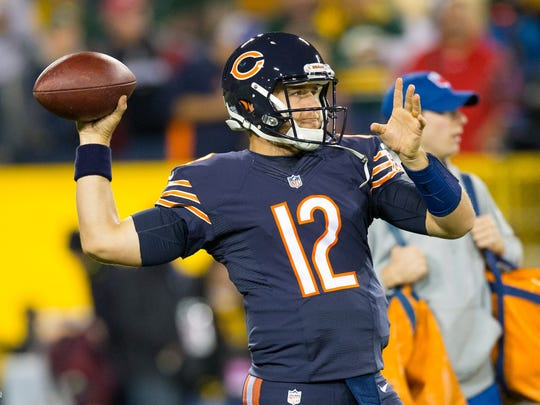 Bears backup quarterback Matt Barkley is likely to start Sunday's game.