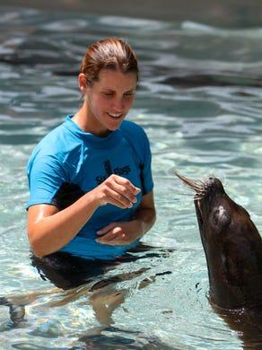 2014: Six Flags Great Adventure's sea lion pup Kona.