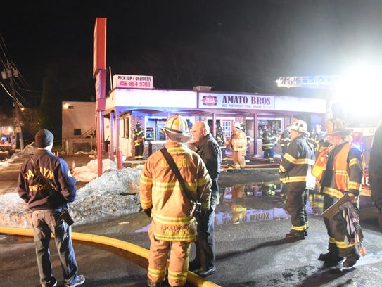 Fire heavily damaged Amato Bros. Deli on the White Horse Pike in Oaklyn in 2016. Firefighters from several towns were on the scene, and it took about 30 minutes to declare the fire under control. The store had closed for the night a few hours earlier.