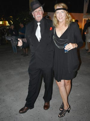 Angelo & Diane Cortland show their support to ending Prohibition at the downtown Vero Beach New Year's Eve party
