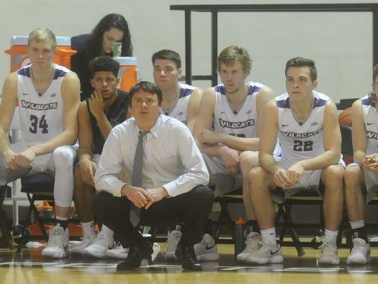ACU coach Joe Golding watches his team play against
