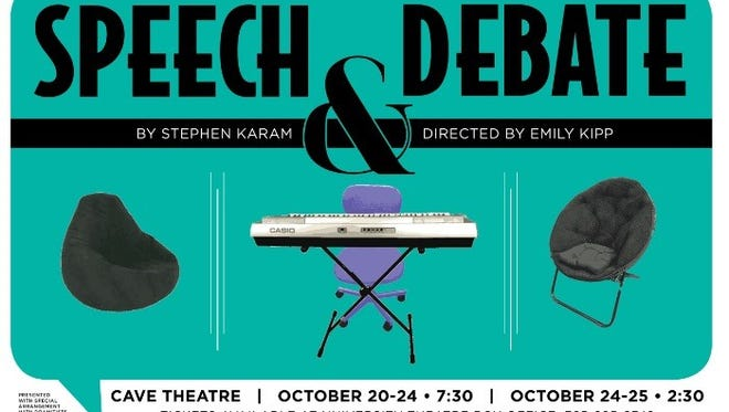 """""""Speech and Debate"""" opens at Ball State's Cave Theatre Tuesday, Oct. 20 at 7:30 p.m."""