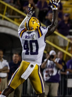 LSU linebacker Devin White has led the Tigers in tackles in six of seven games this season.