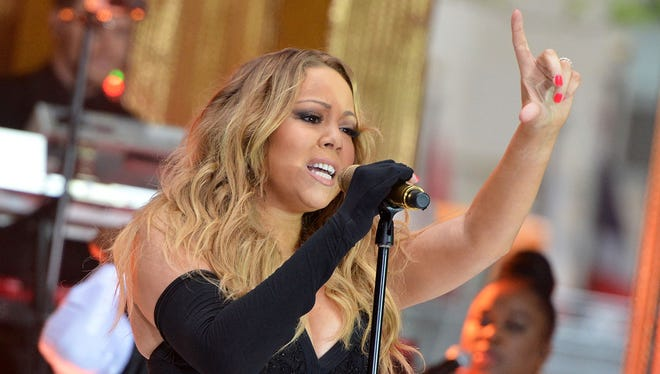 """Mariah Carey performs on NBC's """"Today"""" show in New York."""