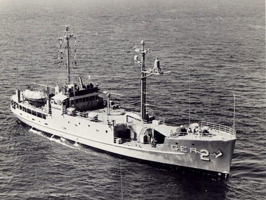 The  U.S. Navy intelligence ship, USS Pueblo, was captured