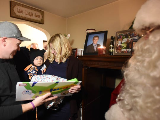 14-month-old Jackson Walsh, who overcame cancer,with