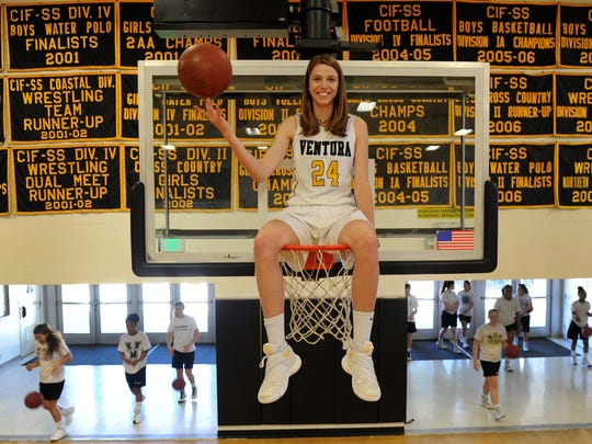 The Star's Girls Basketball Player of the Year Aubrey Knight averaged 15.3 points and 8.4 rebounds for Ventura High.