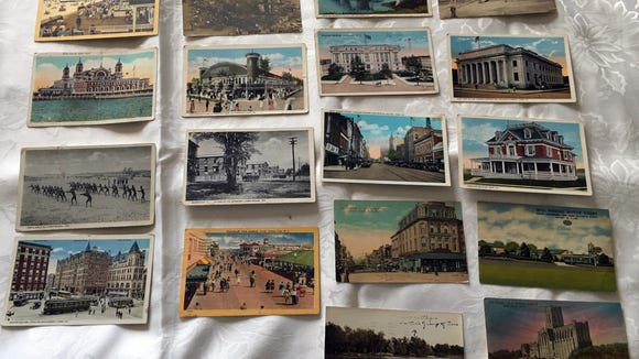 Donna Kober shared her mother-in-law's collection of old York County postcards.