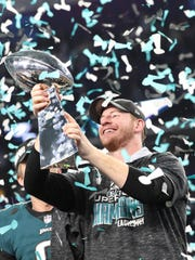 Carson Wentz missed the Super Bowl with a knee injury,