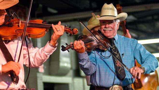 Jody Nix plays to the sellout crowd at the 2017 San Angelo Cowboy Gathering, at the Wells Fargo Pavilion, Sept. 8-9.
