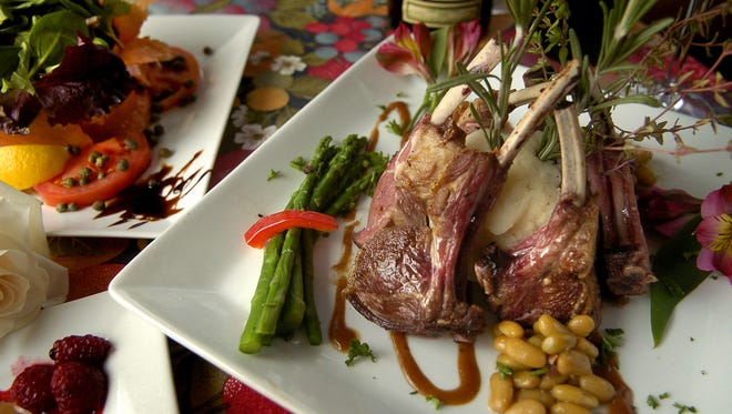 Rack of lamb with Rosemary at La Petite France in Evendale.