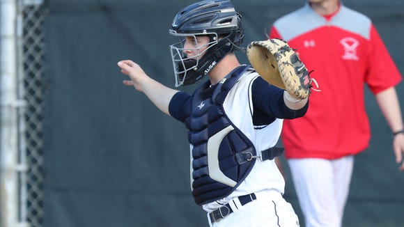 Suffern defeats North Rockland 1-0 in varsity baseball action at Suffern High School in Suffern on Thursday, April 26, 2018.