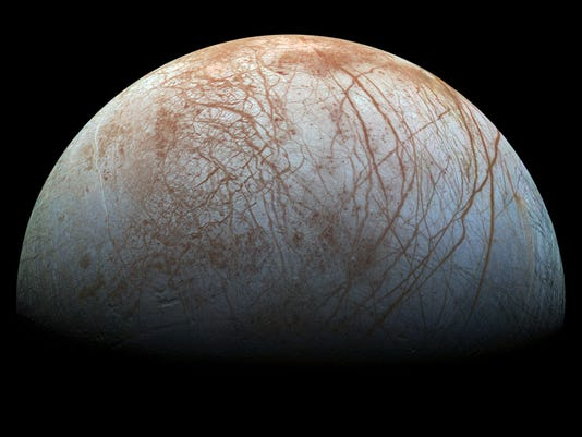 Stunning new image of Jupiter's icy moon Europa