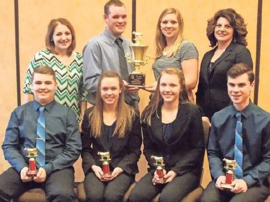 Members of the winning Dodge County Junior Dairy Bowl