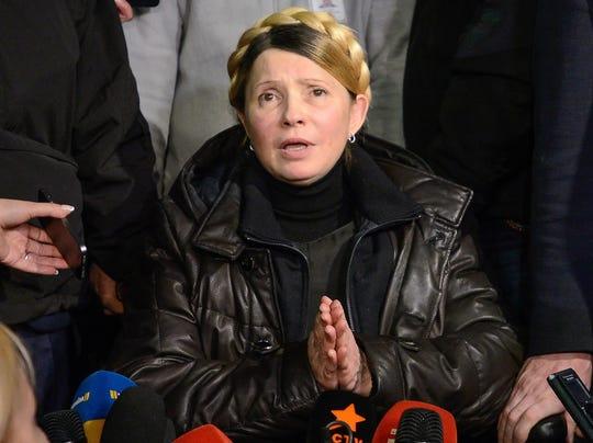 EPA UKRAINE EU PROTEST TYMOSHENKO