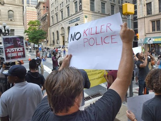 Baltimore Police Death Hearing