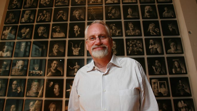Dan Wieden, shown near the lobby of his Portland, Ore., offices in this 2007 file photo, was initially worried that the 'Just Do It' slogan he came up with in 1988 for Nike would be seen as too unfocused by the growing sportswear giant.