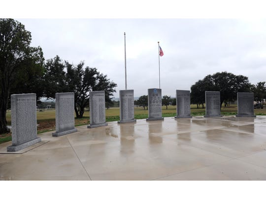 The monuments honoring the Brown County veterans who died during wartime, Nov. 9, 2016.