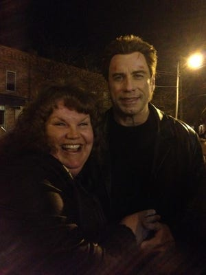 """Tammy Arnold, of Coshocton, recently met John Travolta on the set of his film """"I Am Wrath"""" shooting in Columbus."""
