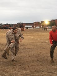 The combat fitness test requires Marines to run with