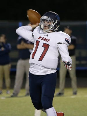 Quarterback Jake Graf has been one of the unsung heroes for Brookfield East this season. Graf is the team's second-leading rusher with 881 yards and 12 touchdowns in 140 carries, but he also has completed 57% of his passes for 642 yards.