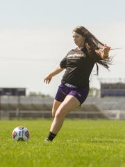 Fowlerville's Jackie Jarvis scored nine goals and eight assists in soccer after helping the Gladiators reach the regional championship game in basketball. She is also an all-conference volleyball player.