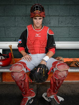First-round draft pick Max Pentecost dazzled in his Lansing Lugnuts debut after 16 months off due to injury. (Photo by Christopher Morris/Corbis via Getty Images)