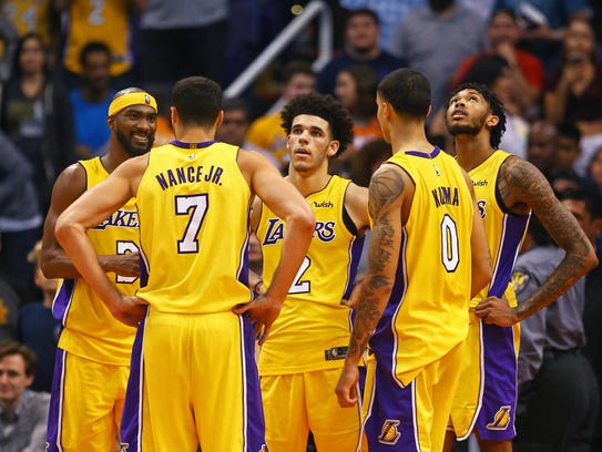 Los Angeles Lakers guard Corey Brewer (3), forward