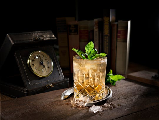 Mint Julep at Books and Bourbon Southern Kitchen