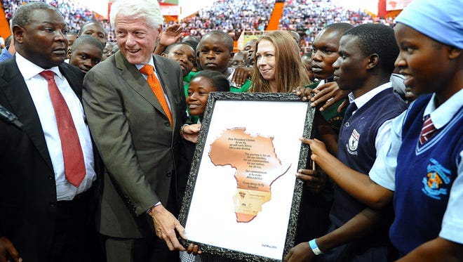 Former president Bill Clinton and daughter Chelsea are in Nairobi, Kenya, on Saturday with the Clinnton Foundation.