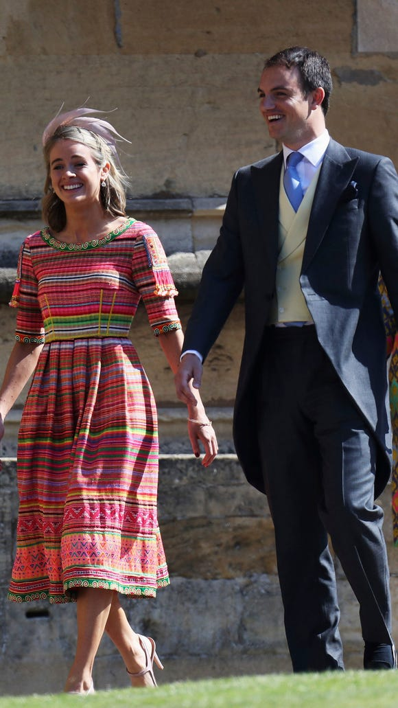 Cressida Bonas' colorful look.