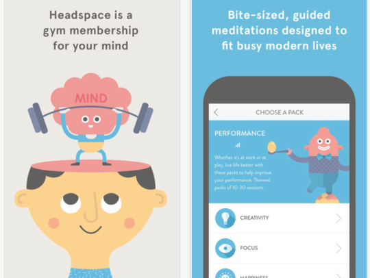 "The Headspace app has been described as ""the gym membership"